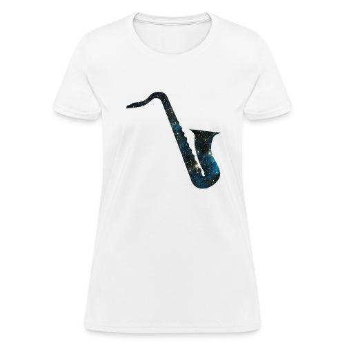 insaneintherainmusic Female Galaxy Logo - Women's T-Shirt