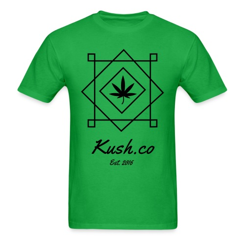 Kush.co Boxy T-shirts - Green - Men's T-Shirt