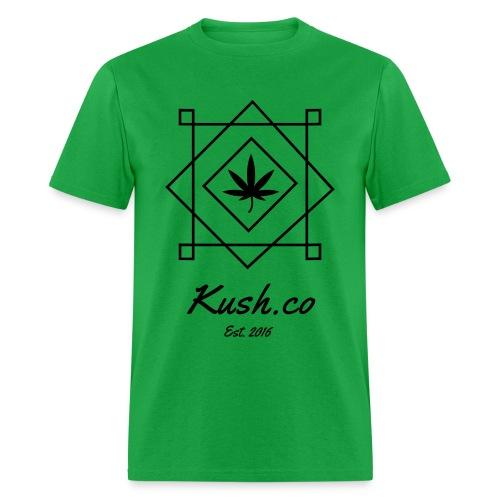Kush.co Boxy T-shirts - Green - Men's T-Shirt