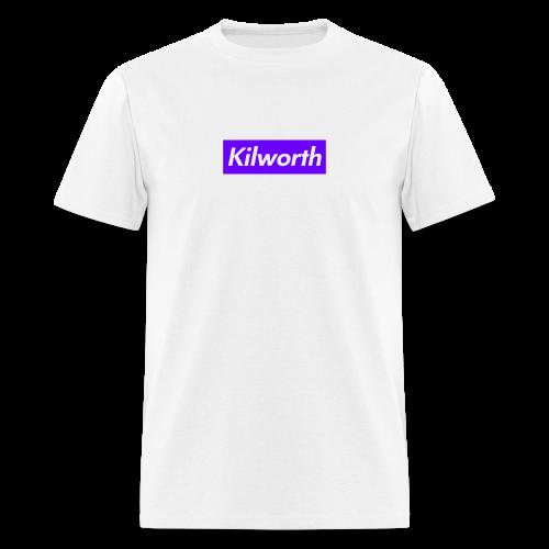 Purple Box Logo Tee - Men's T-Shirt