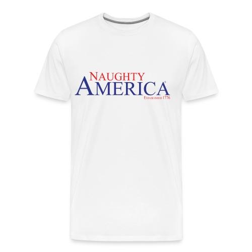Naughty America White Shirt - Men's Premium T-Shirt