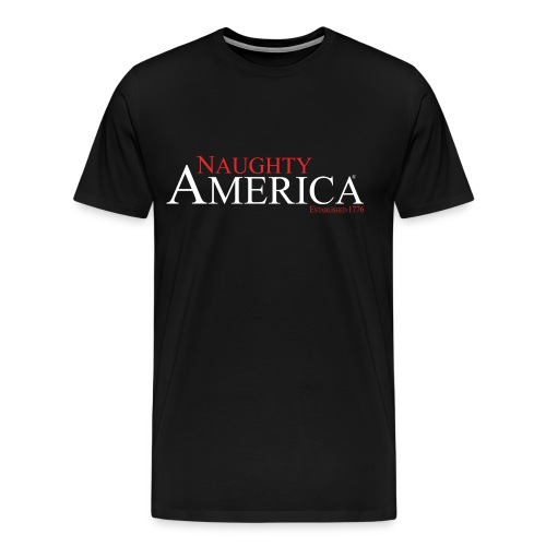 Naughty America Black Shirt - Men's Premium T-Shirt
