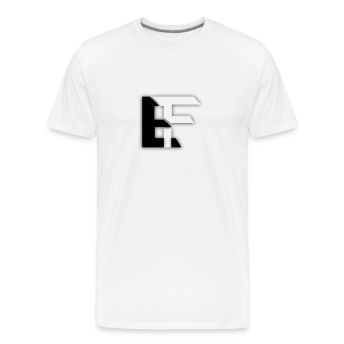 White T-Shirt with EF Logo! by XavierThus - Men's Premium T-Shirt