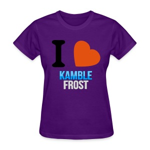 I Love Kamble Frost Purple - Women's T-Shirt