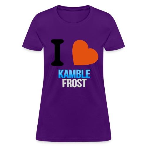 I Love Kamble Frost Purple - Women's T-Shirt