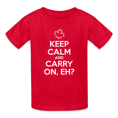 Keep Calm and Carry On, Eh - Kids' T-Shirt