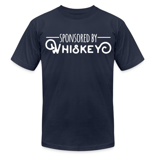 Sponsored by Whiskey - Men's Fine Jersey T-Shirt