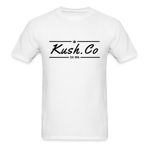 Kush.co Banner T-shirt - White - Men's T-Shirt