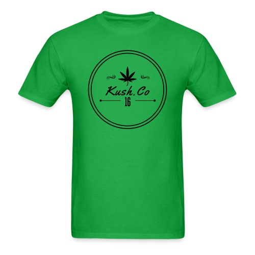 Kush.co Circle Seal T-shirt - Green - Men's T-Shirt
