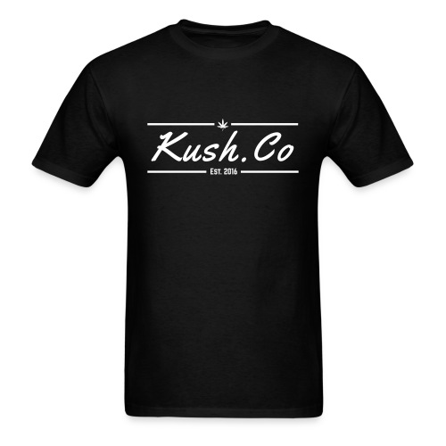 Kush.co Banner T-shirt - Black - Men's T-Shirt