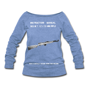 Norinco SKS Vintage Manual Whatever The Fuck This Thing Is - Women's Wideneck Sweatshirt