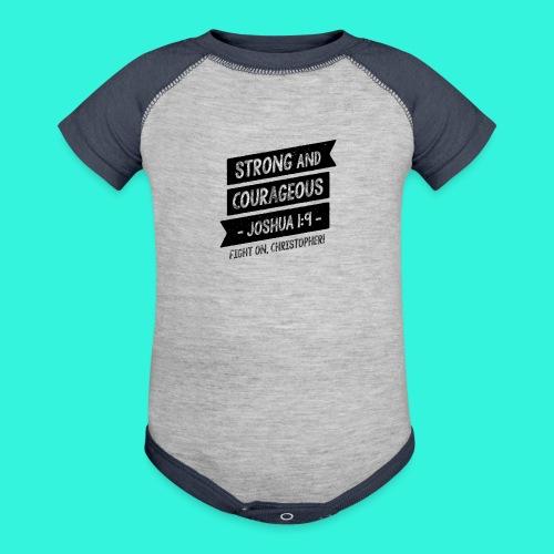 Baby's T-Shirt (Gray/Navy) - Contrast Baby Bodysuit
