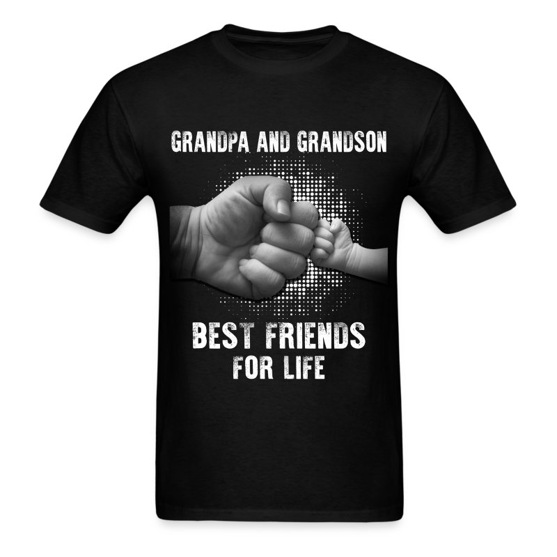 Grandpa And Grandson Best Friends For Life T-Shirt ...