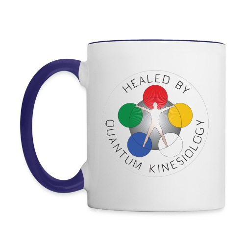 Healed by Quantum Kinesiology coffee mug - Contrast Coffee Mug