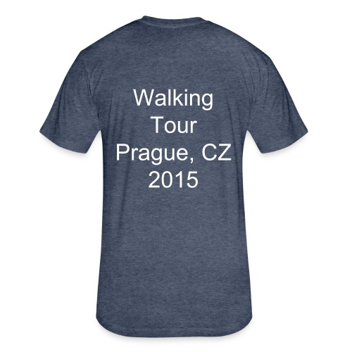 Walking Tour Prague, CZ - Fitted Cotton/Poly T-Shirt by Next Level