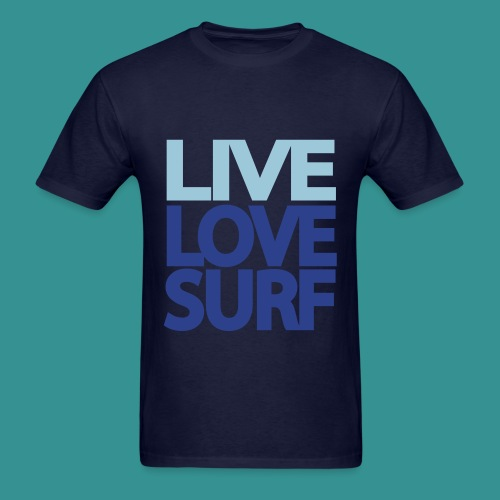 East Tide Live Love Surf T-Shirt  - Men's T-Shirt