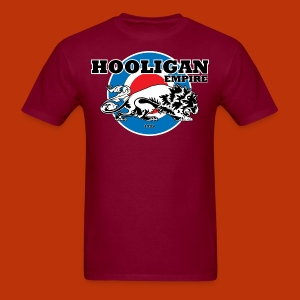 Hooligan Mod Burgandy - Men's T-Shirt