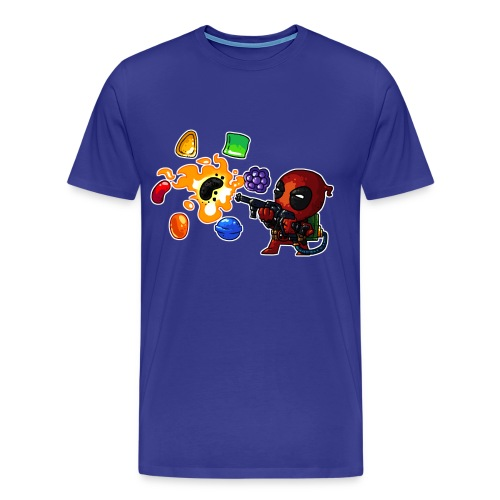 Men's Premium T-shirt Deadpool vs. Candy - Men's Premium T-Shirt