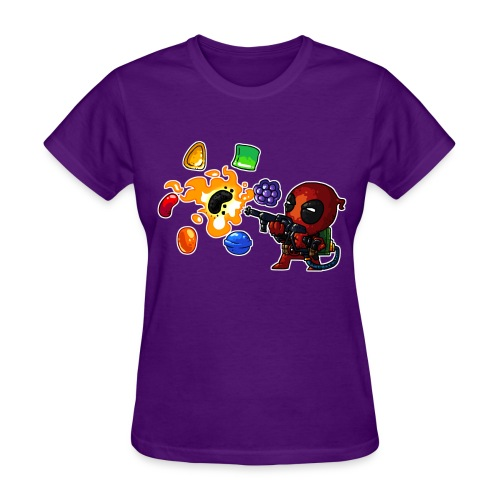 Women's T-shirt Deadpool vs. Candy - Women's T-Shirt