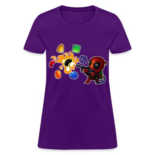 Women's T-shirt Deadpool vs. Candy - Women's T-Shirt