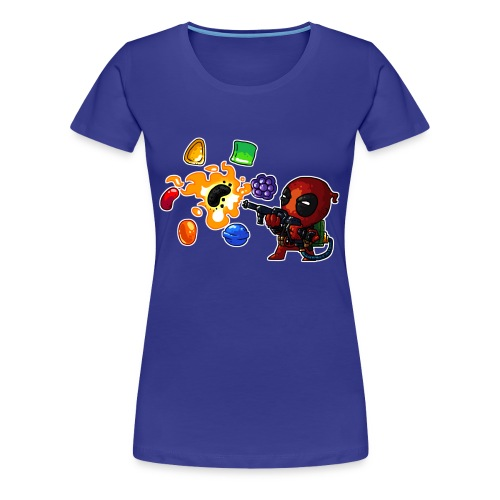 Women's Premium T-shirt Deadpool vs. Candy - Women's Premium T-Shirt