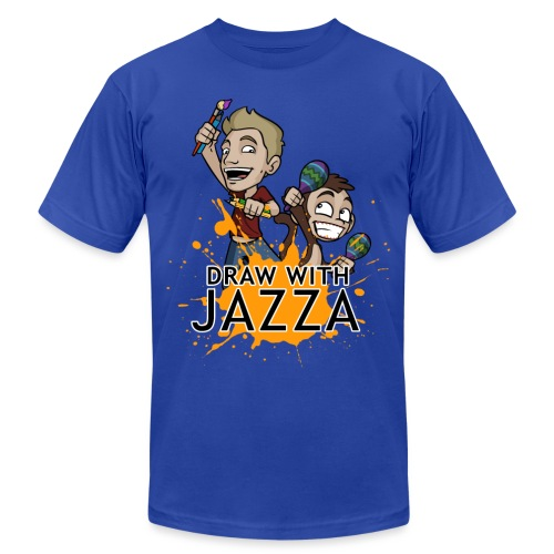 Men's Draw With Jazza Tshirt- various colors - Men's  Jersey T-Shirt