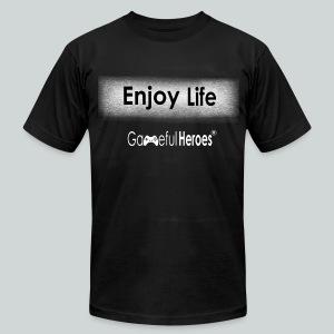 Enjoy Life GamefulHeroes Men's T-Shirt by American Apparel - Men's Fine Jersey T-Shirt