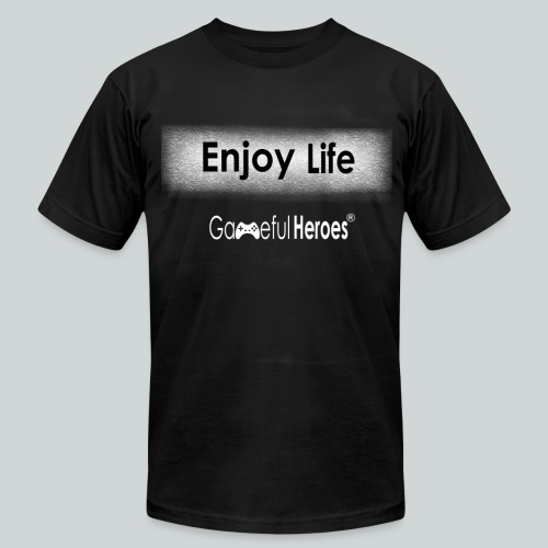 Enjoy Life GamefulHeroes Men's T-Shirt by American Apparel - Men's T-Shirt by American Apparel