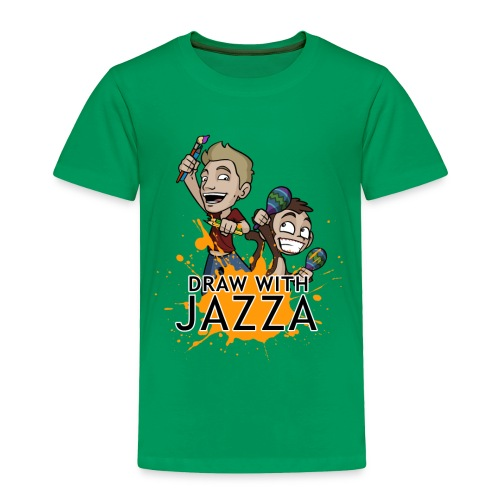 Toddler Draw With Jazza Tshirt- various colours - Toddler Premium T-Shirt