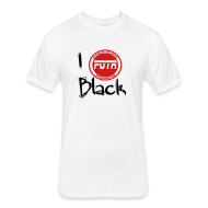 T-Shirts ~ Fitted Cotton/Poly T-Shirt by Next Level ~ i love black