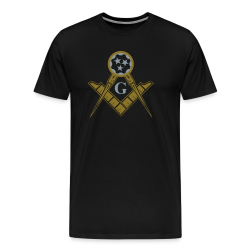Metallic Gold And Silver Ink Printed 104 SC T-shirt - Men's Premium T-Shirt