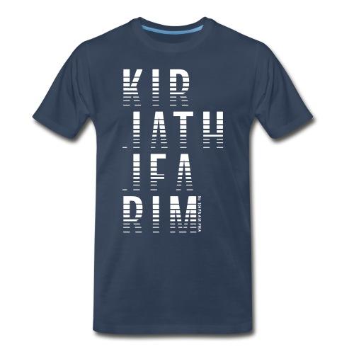 White Ink Printed KIRJATHJEARIM - LIGHT - Men's Premium T-Shirt