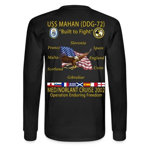 USS MAHAN DDG-72 2002 CRUISE SHIRT - Men's Long Sleeve T-Shirt