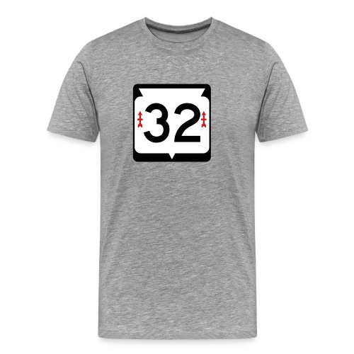 Wisconsin State Route 32 Sign T-Shirt - Men's Premium T-Shirt
