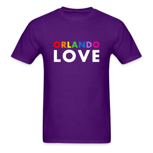 Orlando Love - Men's Purple T-Shirt - Men's T-Shirt