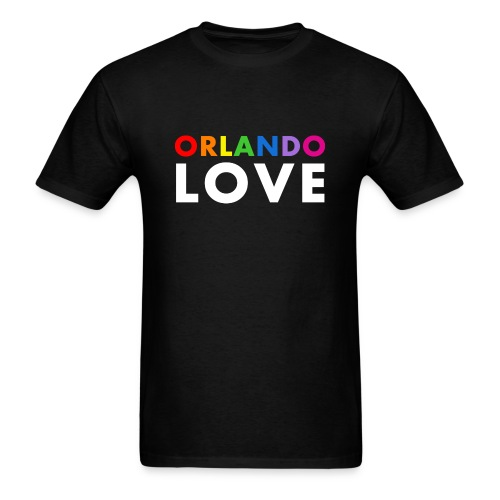 Orlando Love - Men's Black T-Shirt - Men's T-Shirt
