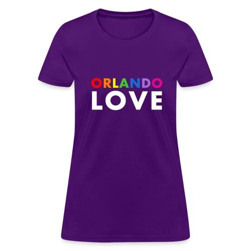 Orlando Love - Women's Purple T-Shirt - Women's T-Shirt