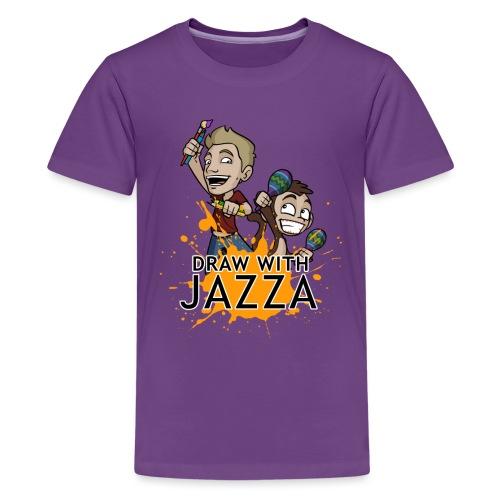 Kids Draw With Jazza Tshirt- various colours - Kids' Premium T-Shirt
