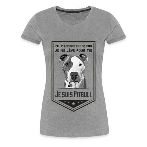 T-shirt Premium Femme Je suis Pitbull - Women's Premium T-Shirt