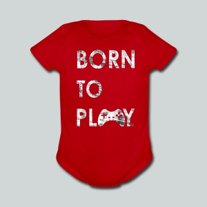 Born to play GamefulHeroes Baby Short Sleeve One Piece - Short Sleeve Baby Bodysuit