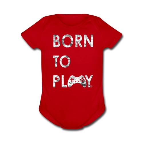Born to play GamefulHeroes Baby Short Sleeve One Piece - Organic Short Sleeve Baby Bodysuit