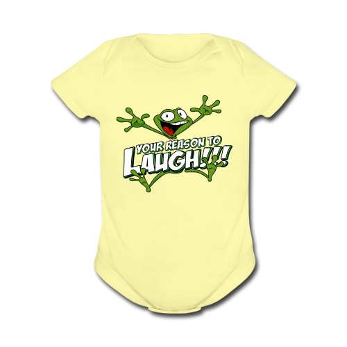 YRTL with Logo - Organic Short Sleeve Baby Bodysuit
