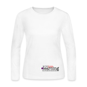 For the Love of Learning 100% cotton long sleeve t-shirt - women - Women's Long Sleeve Jersey T-Shirt