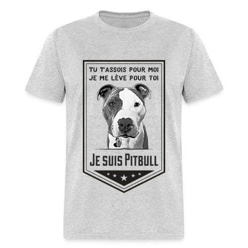 T-shirt Homme Je suis Pitbull - T-shirt pour hommes