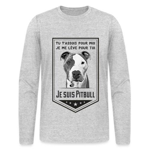 T-shirt Manches Longues Homme Je suis Pitbull - T-shirt manches longues pour hommes Next Level