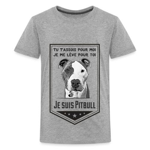T-shirt Premium Ados Je suis Pitbull - T-shirt premium pour ados