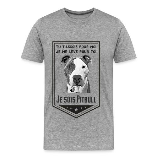 T-shirt Premium Homme Je suis Pitbull - T-shirt premium pour hommes