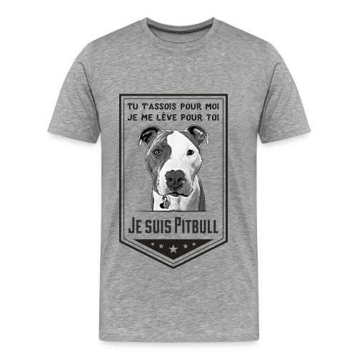 T-shirt Premium Homme Je suis Pitbull - Men's Premium T-Shirt