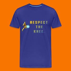 Men's Pure Focus respect knee t-shirt - Men's Premium T-Shirt