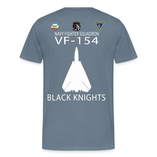 VF-154 w/ USS KITTY HAWK CV-63 - Men's Premium T-Shirt